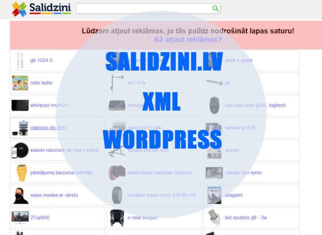 Izveidošu XML skriptu salidzini.lv interneta veikalam uz WordPress, slide number2